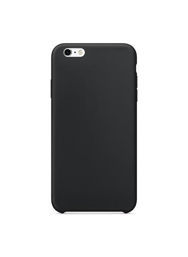 Microsonic Microsonic Apple iPhone 6S Liquid Lansman Silikon Telefon Kılıf Siyah